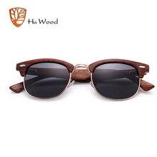 HU WOOD 2018 New Polarized Sunglasses Unisex Retro Wooden Striped High Quality O