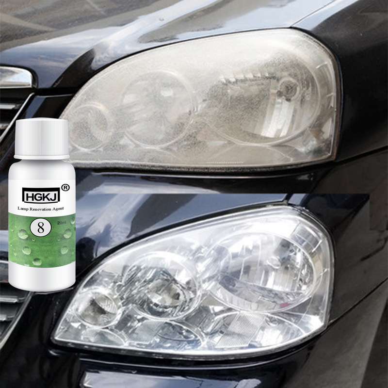 HGKJ-8-20ML Car Headlight Agent Brightening Headlight Repair Lamp Renovation Agent Paint Care Car Polish Restoration Kit TSLM1