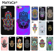 MaiYaCa Hamsa Hand of Fatima Pattern TPU Soft Phone Cell Case for Apple iPhone 8 7 6 6S Plus X XS MAX 5 5S SE XR Cover