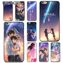 MaiYaCa Japanese Anime Your Name Kimi no Na wa Painted Phone Case for Apple iPhone 8 7 6 6S Plus X 5 5S SE 5C Cover цена и фото
