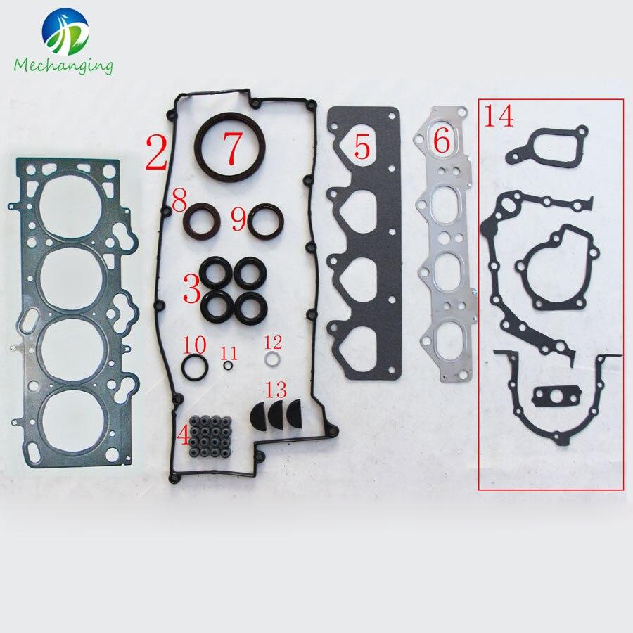 G4gb for hyundai elantra 1 8l 16v dohc metal engine rebuild kits full set automotive spare parts engine gasket 20910 23c20