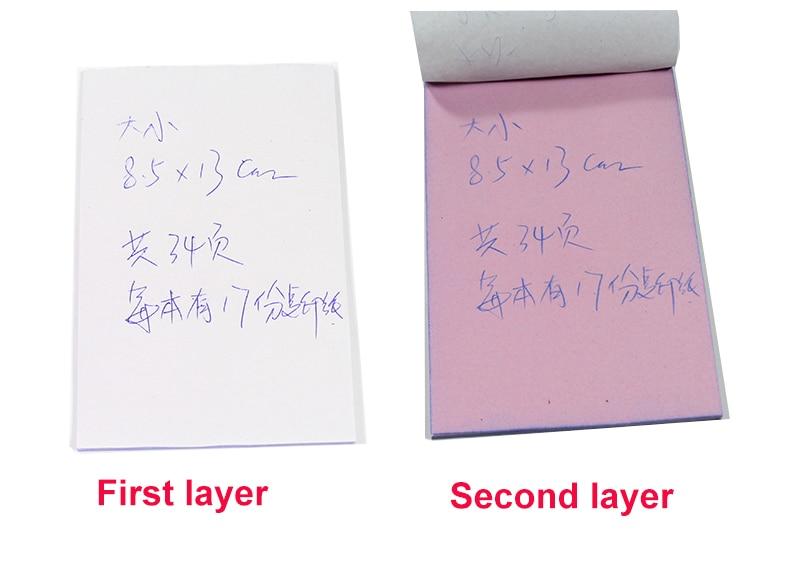 Купить с кэшбэком Free shipping5pcs / lot 8.5x13cm Blank 2 layers Carbonless paper double layer handwritten sales note memorandum sheet letter pad