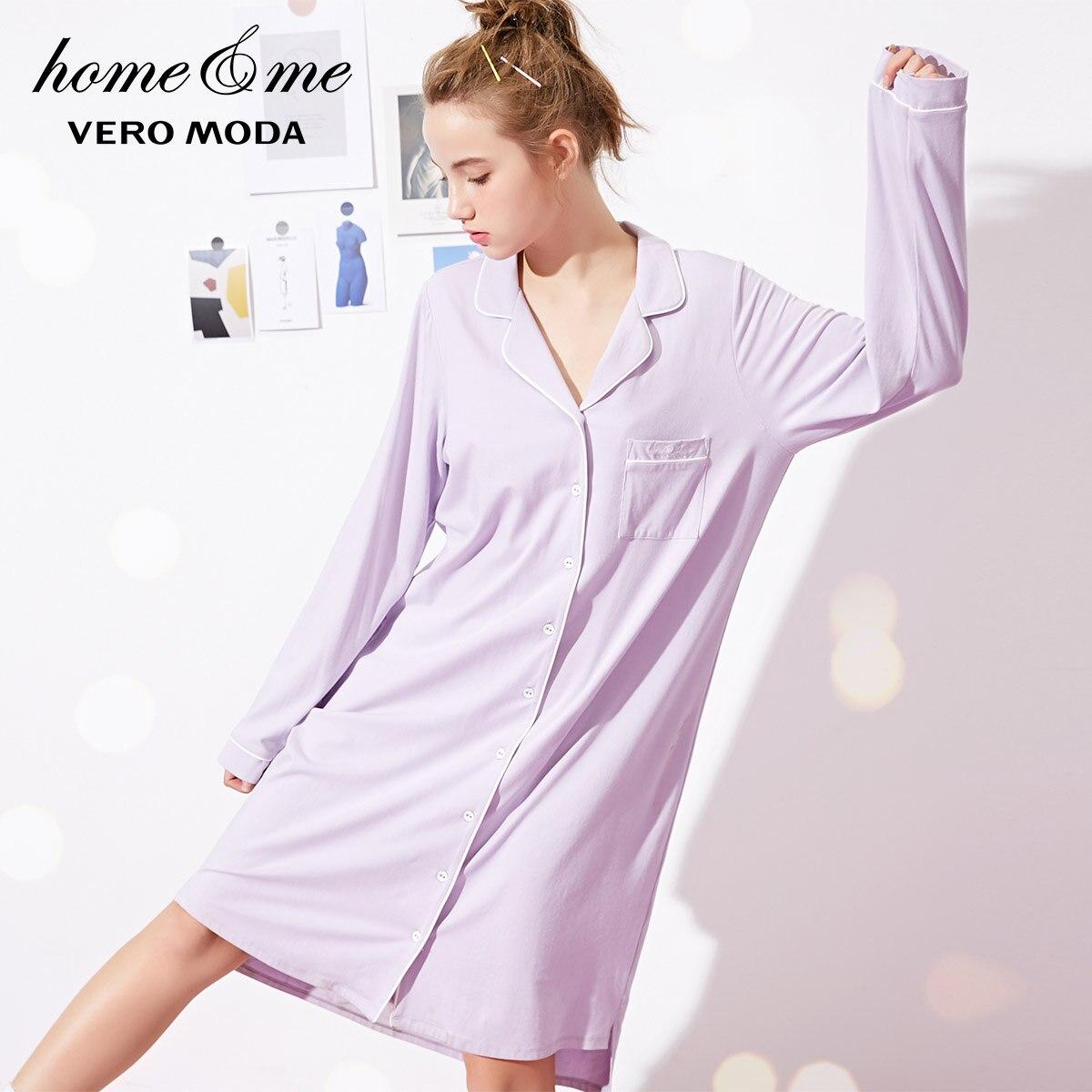 Image 2 - Vero Moda New Shirt Pure Night Dress  318361517-in Nightgowns & Sleepshirts from Underwear & Sleepwears