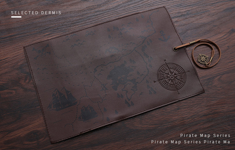 Treasure Map Vintage Pencil Case 19