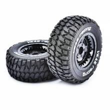 4PCS 1/10 Short Course Desert Off-road Tires VKAR Tire Wheels 12mm Adapter 108mm Spare Parts For RC Car Model