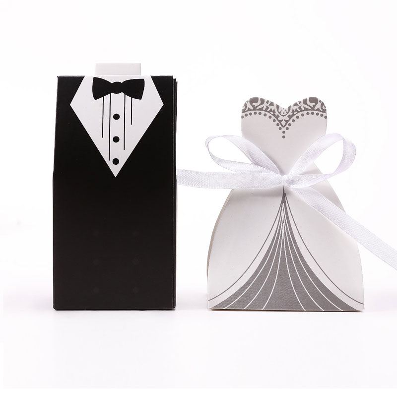 Hot 100pcs Wedding Favor Candy Box Bride Groom Invitation Gifts Party Decoration Supply Decoracion Boda Sweet On Aliexpress Alibaba