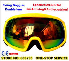 2016 Sport  Skiing Goggle Snowboard Helmet Glasses For Skateboard YH29