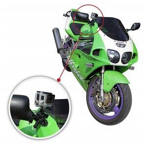 Image 2 - 자전거 용 GoPro 시트 포스트 클램프 용 핸들 바 자전거 마운트 Go Pro 스포츠 카메라 용 금속 나사 + 3 방향 조정 피벗 암