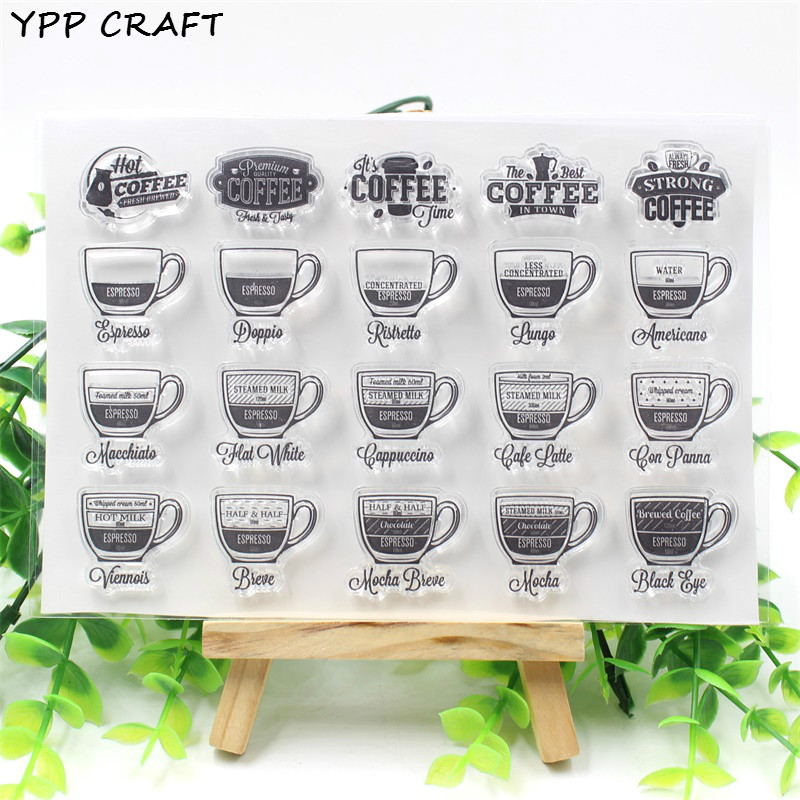 extra goedkoop 10% Korting YPP CRAFT Coffee Transparent Clear Silicone Stamp for DIY Scrapbooking