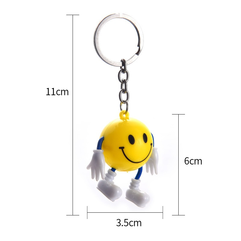 Korean cute cartoon key chain accessories personalized smile facial expression face key pendant bag car ornaments small gifts 1