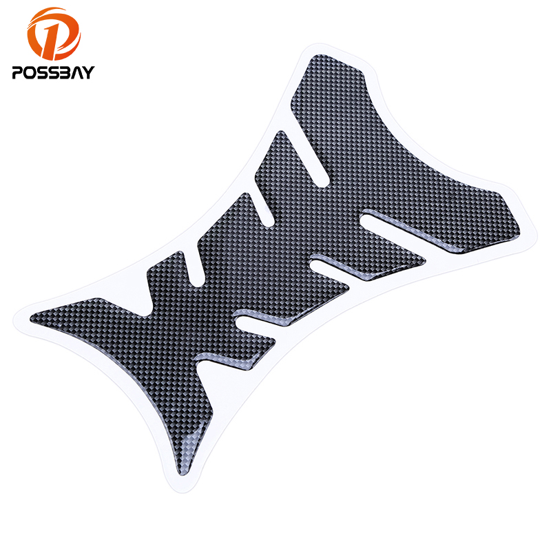 POSSBAY Universal Carbon Fiber 3D Motorcycle Fuel Gas Oil Tank Pad Protector Decal Sticker For Kawasaki Ninja Honda Harley Bike elizabeth and james повседневные брюки