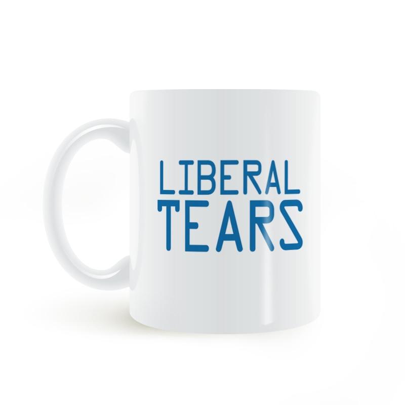 Cup Tear Liberal Tears Cups Taza de caf/é con Leche 11 oz