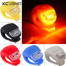 1pc Silicone Bike Bicycle Cycling bicicletas Head Front Rear Wheel LED Flash Safety Velo Light Lamp
