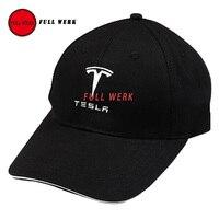 Cap Chapéu de Beisebol ajustável Moda Sombrinha com Tesla Logotipo Preto Do Esporte chapéu para Tesla Model S X Universal Cap para Mulheres Dos Homens