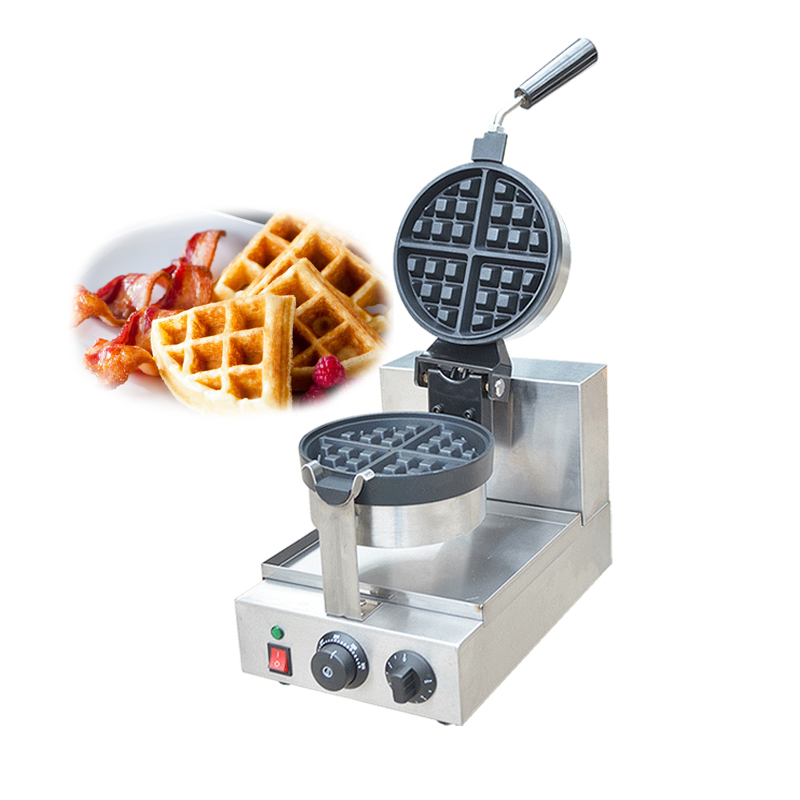 Electric Round Waffle Maker Commercial Waffle/ Muffins Machine Single Head Waffle Baking Machine FY 2205