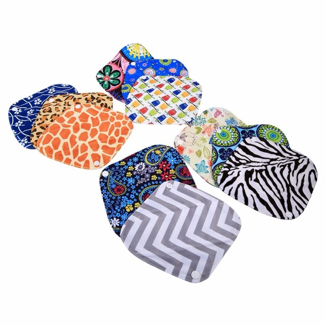 1Pcs Reusable Washable Women Menstrual Pads Bamboo Cloth Panty Liner Hot Sale Mama Menstrual Sanitary Pads Physiological Pads