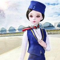 Может ребенок #5001 BJD куклы SD кукла 60 см/24 дюймов стюардесса кукла в форме для девочек коллекция подарки падение покупки