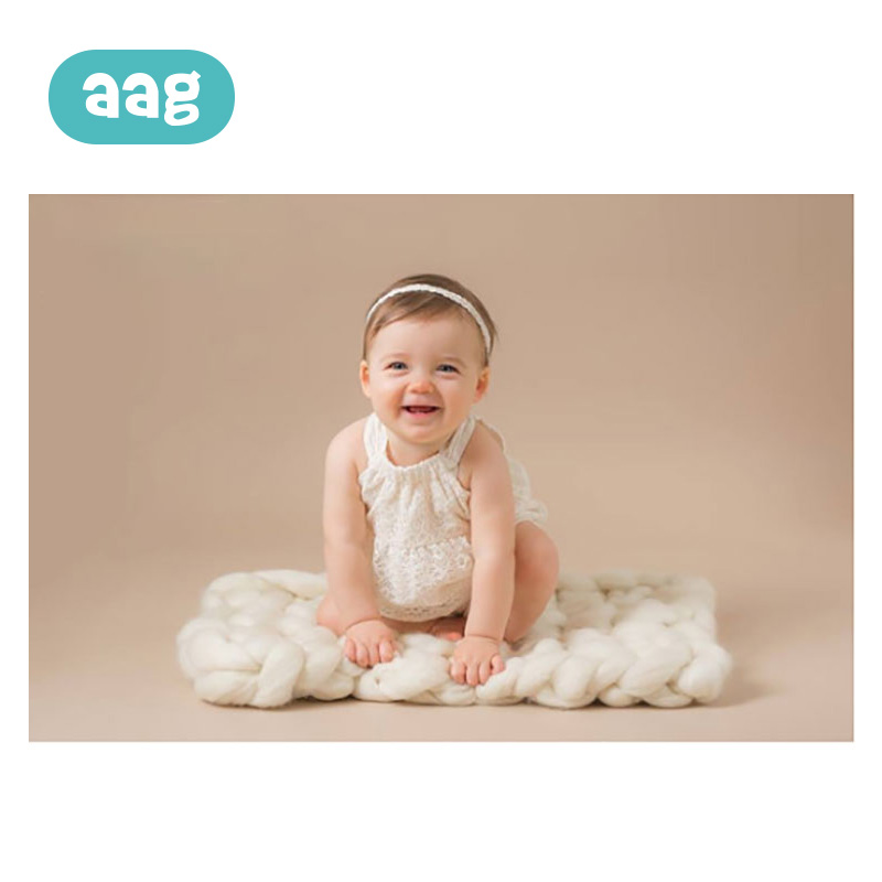 AAG Baby Blanket Hand Knitting Twisted Blanket Carpet Newborn Super Thick Line Blanket Mat Child Photography Props Blankets