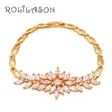 Wholesale & retail  yellow gold tone white Cubic zirconia Fashion Jewelry Watch Bracelets Anniversary TB519