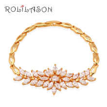Wholesale retail yellow gold tone white Cubic zirconia Fashion Jewelry Watch Bracelets Anniversary TB519