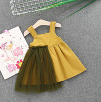 2018 Newborn Baby Girls Gauze Dress Straps Party Beach Pearl Clothes Vestidos Mujer Tutu Dresses For