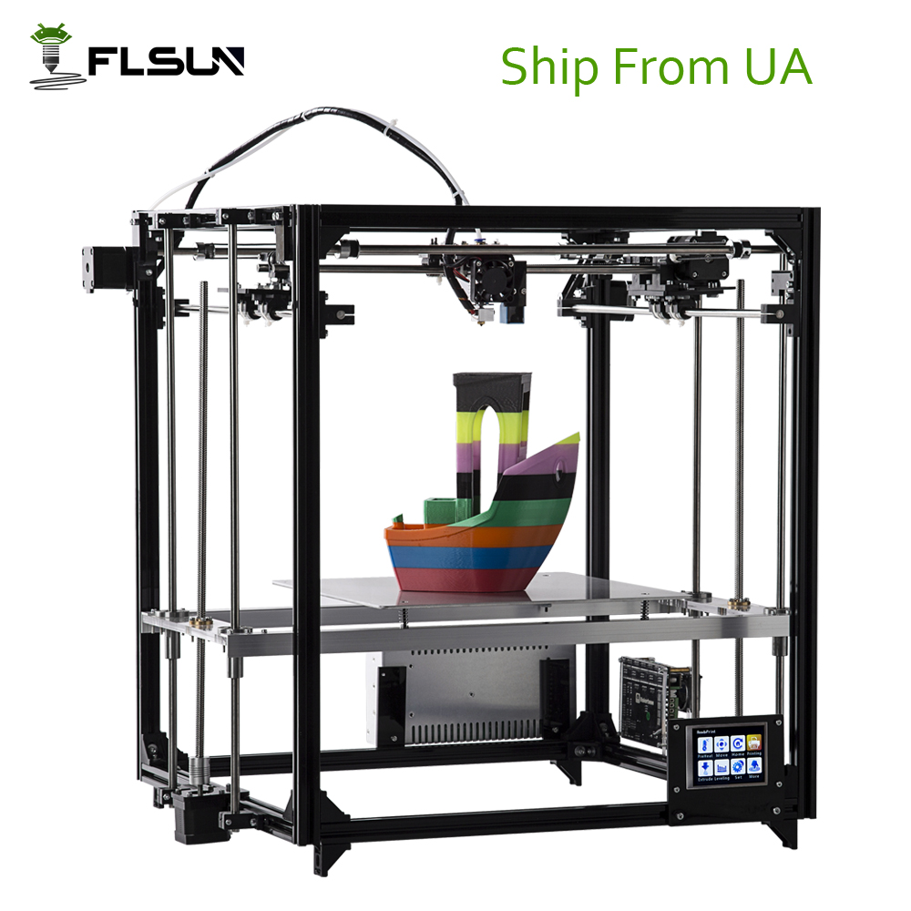 Ship From Ukraine Flsun 3D Printer Large Printing Size 260*260*350mm DIY 3d Printer Kit With Auto Level Heated Bed Touch Screen original anycubic 3d pinter kit kossel pulley heat power big size 3d printing metal printer fast shipping from moscow