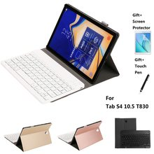 Split Ontwerp Leather Case Met Bluetooth Keyboard Case Cover Voor Samsung Voor Tab S4 10.5 inch T830 2018(China)