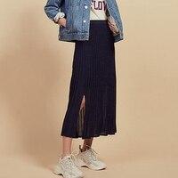 Women Long Skirt 2019 Knitted Skirts