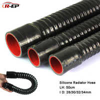R-EP Silicone Flexible Hose ID 28 30 32 34mm for Water Radiator Tube for Air Intake High Pressure Rubber Joiner Pipe