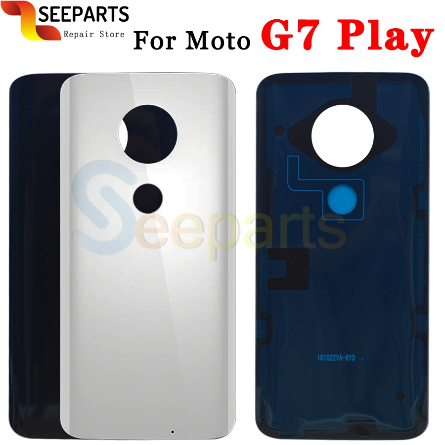 For Moto G7 Back Battery Cover Rear Door Panel G7 Plus Housing Case Replacement Part For Motorola Moto G7 Powe Battery Cover (4)