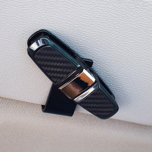 Car Sun Visor Clip Holder Stylish Auto Sunglasses Eyeglass Card ABS Portable Fastener Universal