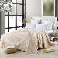 100% Cotton Bed Cover Coverlet Bedspread Solid Color Cool/Luxury Comforter Full/Queen Size Air conditioning Summer Checked 3PCS