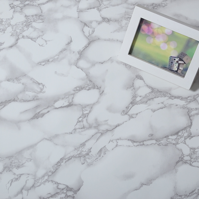 Серый и белый Водонепроницаемый Мрамор зерна виниловых самоклеющиеся обои Стикеры Современный Контакт папе для Кухня шкаф