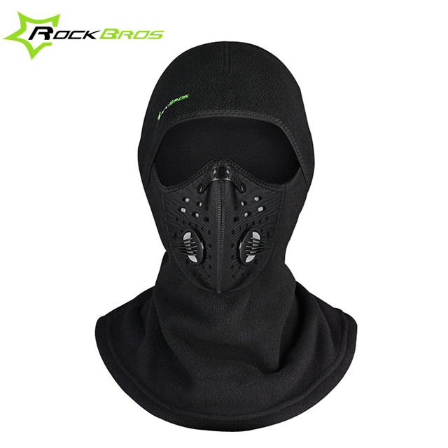 ROCKBROS Winter Face Mask Cap Fleece Thermal Ski Mask Face Snowboard Shield  Hat Cold Headwear Cycling 1e6e2f7efa09