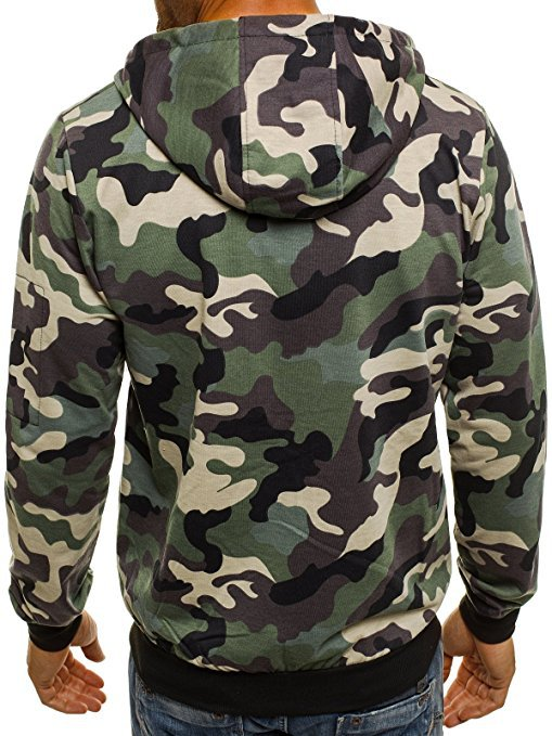 Casual Streetwear Camo Hoodie Camouflage Print Men Hoodie Zipper Military Sportswear Sweatshirts Male Cloth Sudadera Hombre in Hoodies amp Sweatshirts from Men 39 s Clothing