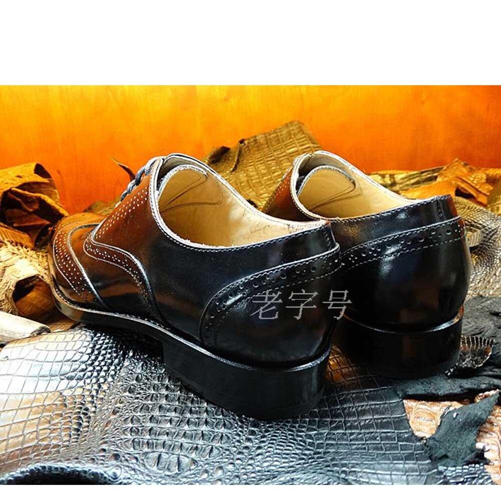 Italiano Bespoke Importado Sipriks Preto Welted Europeus Sociais Sapatos Vestido Goodyear Couro Brogue Oxfords De Esculpida Bezerro Completa q8qw4g