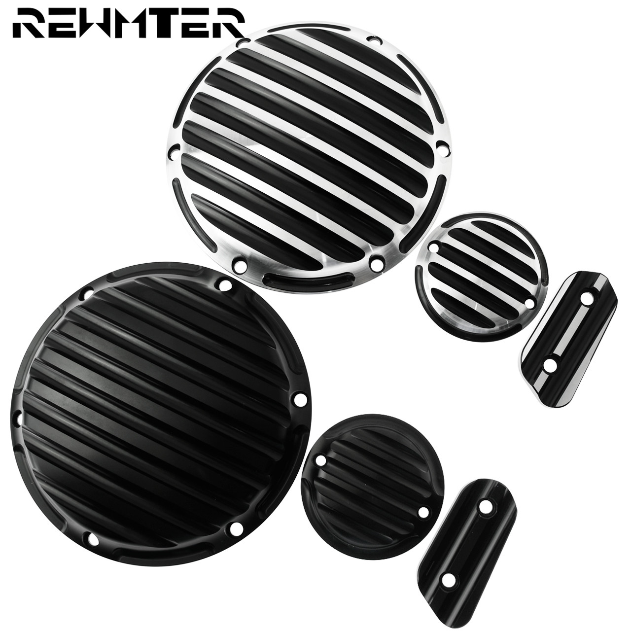 1 Set/Pc Derby Cover Timing Timer Inspection CNC Deep Cut Motorcycle  Cap For Harley Sportster 883 1200 XL, With Logo