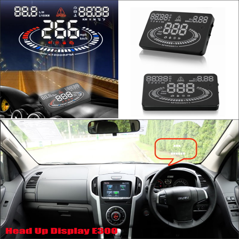 купить Car HUD Head Up Display For Isuzu D MAX 2015 2016 Modified Refkecting Windshield Screen Safe Driving Screen Projector по цене 3580.07 рублей