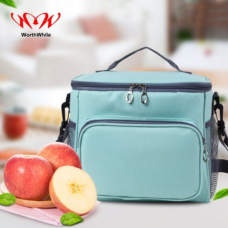 WorthWhile Camping Picnic Bag Thermal Basket Lunch Cooler Box Outdoor Hiking Kid Women Men Insulated Fresh Storage Oxford Cloth
