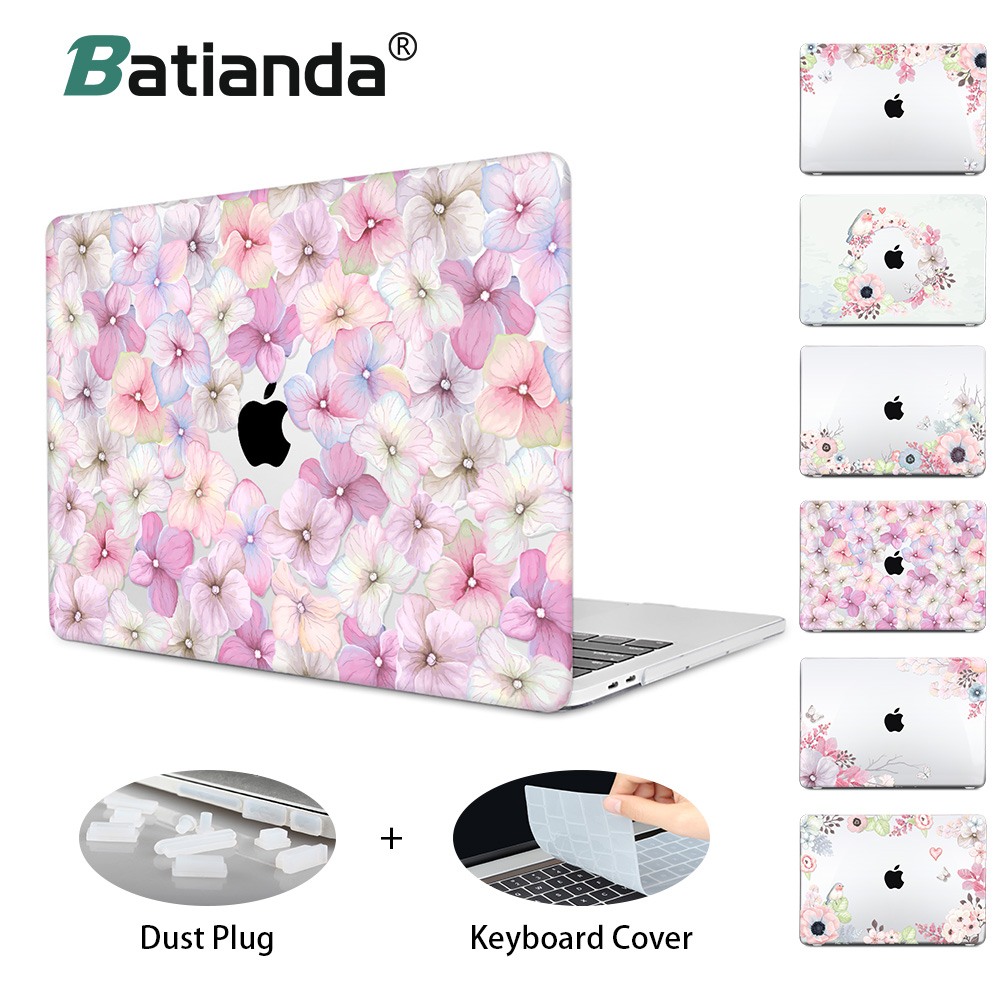 все цены на Hard Crystal Floral Case for MacBook Air 11 12 /air 13 inch A1466 retina 13 pro 13.3 15 touch bar Flowers Laptop Case Sleeve