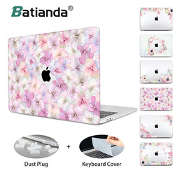 Hard Crystal Floral Case for MacBook Air 11 12 /air 13 A1466 A1932 retina 13 pro 13.3 15 touch bar Flowers Laptop Case Sleeve