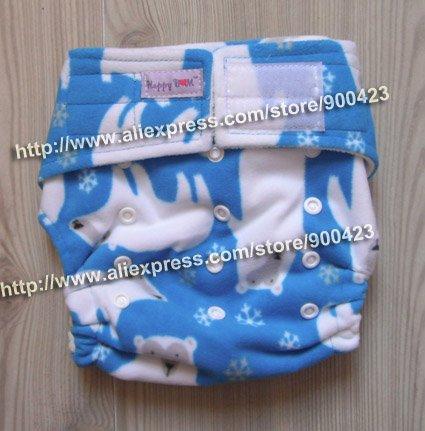Детских подгузников-1 шт. тканевых подгузников+ 2 шт. вставок), тканевые подгузники в карманном стиле - Цвет: blue bear