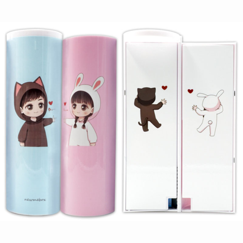 Cartoon strong magnetic buckle large capacity creative multi-function anti-shock shockproof and dirty pen case