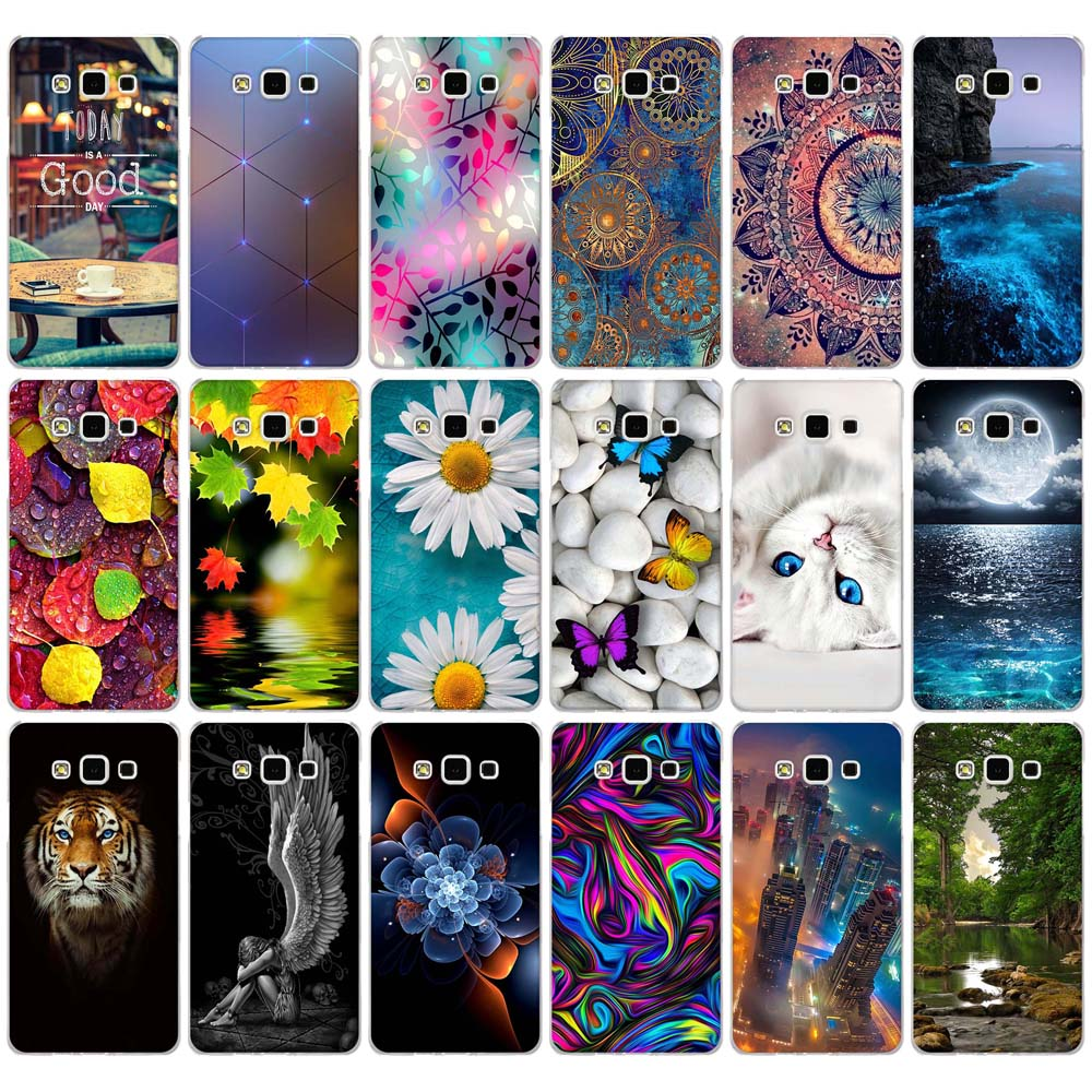 Soft TPU <font><b>Case</b></font> for Samsung Galaxy A7 Cover Luxury 3D Relief Printing Coque for Samsung Galaxy A7 2015 <font><b>A700</b></font> A7000 A700F SM-A700F image