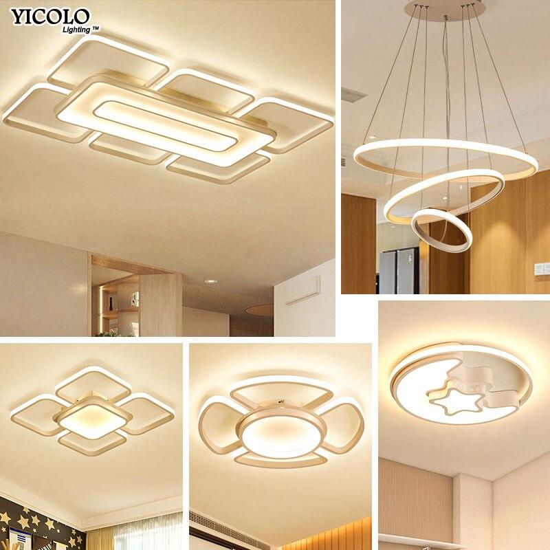 Luci di Soffitto del LED 4 tipo di Combo per la camera da letto Soggiorno sala Da Pranzo luminarias para dimmerabile con superficie di controllo a distanza montato