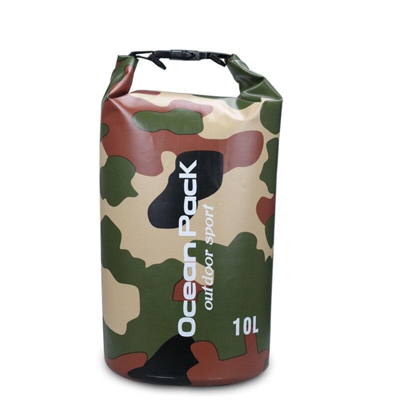 Партатыўны воданепранікальны захоўвання сухі мяшок 2L 5л 10л 15л 20л 30л Камуфляж для дрыфтынгу Рафтынг Canoe Travel Kit