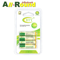 BTY 7 1350 4 Pieces BTY Ni Mh Aaa 1350mah 1 2V Rechargeable Battery Accumulator Free