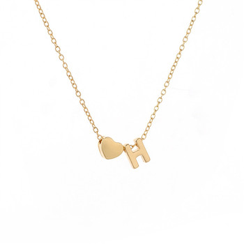 Dainty Heart Initial Necklace 1