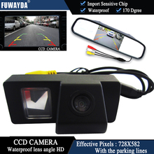FUWAYDA Color CCD Chip Car Rear View Camera for TOYOTA LAND CRUISER 200 LC200/Toyota REIZ 2009+4.3 Inch  rearview Mirror Monitor