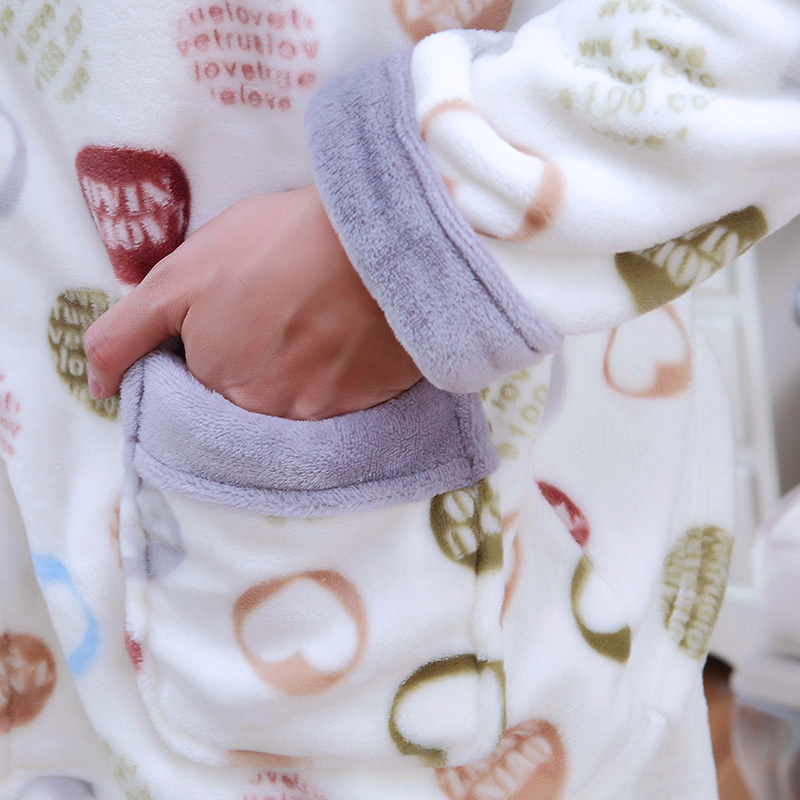 2018 Men Pajama Sets Coral Fleece Winter Thick Autumn Men Sleepwear Suit Long Sleeve Letter Pijama Man Homewear Pyjama Male XXXL in Men 39 s Pajama Sets from Underwear amp Sleepwears